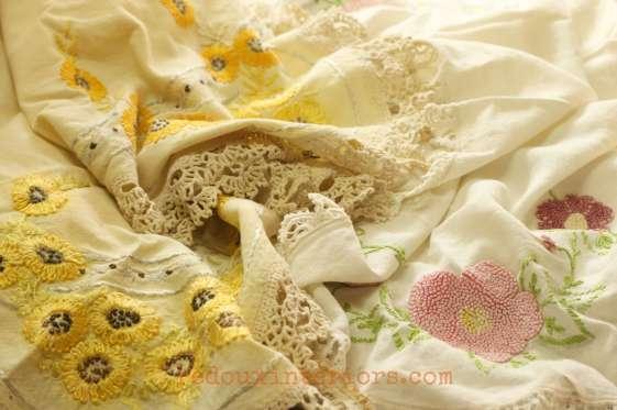 vintage table cloths dumpster save redouxinteriors