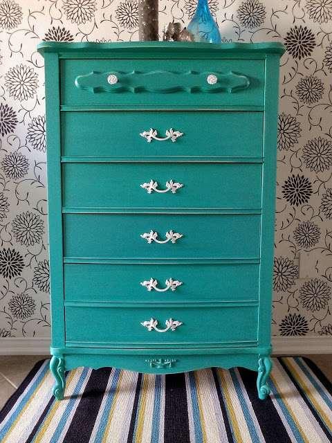 Blue Green Dresser