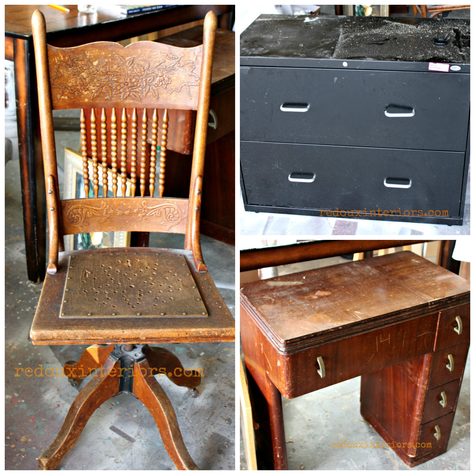 Trashy Tuesday Dumpster Diving DIY Filing Cabinet Sewing Cabinet