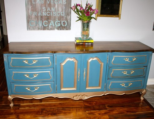Gold and French Blue Buffet