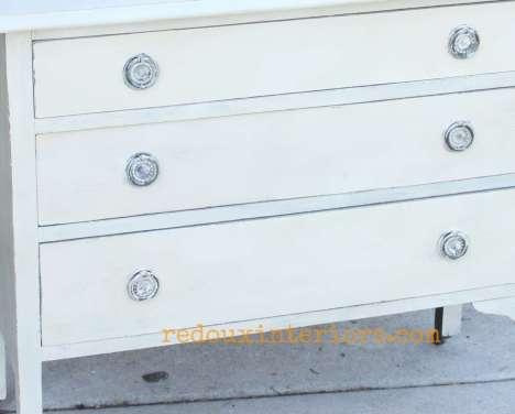Mixed Leftover paint dresser hardware wet distress redouxinteriors