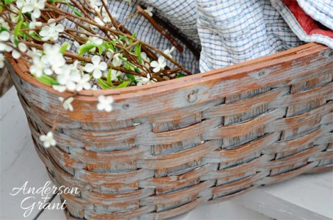 DIY Distressed Picnic Basket from Anderson and Grant