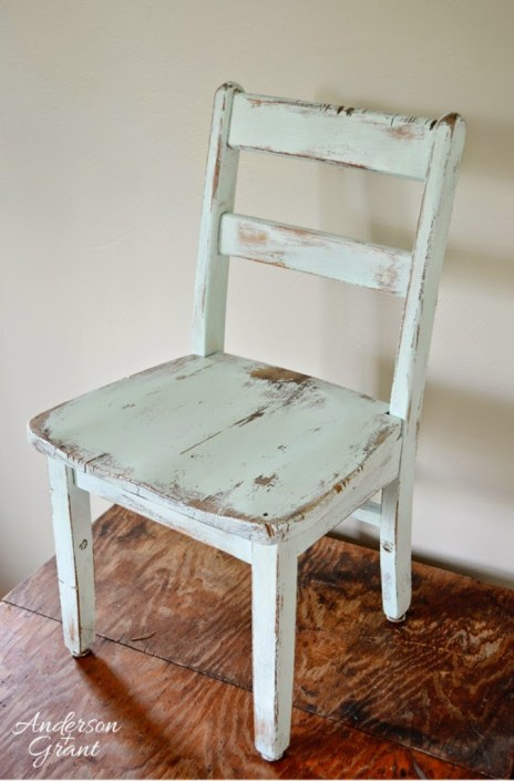 hand painted kid's chair