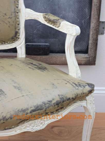 Vinyl painted chair redouxiteriors