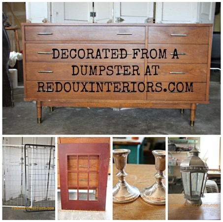 Decorated from a Dumpster redouxinteriors.com