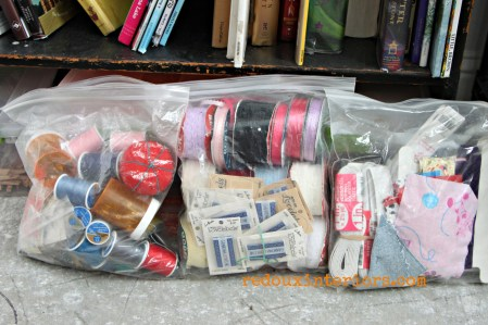 dumpster found sewing kits redouxinteriors