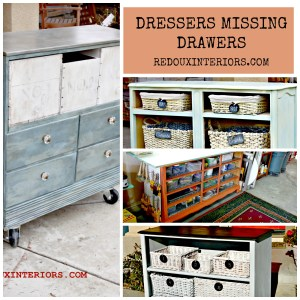 Dressers Missing Drawers How To Repurpose Them