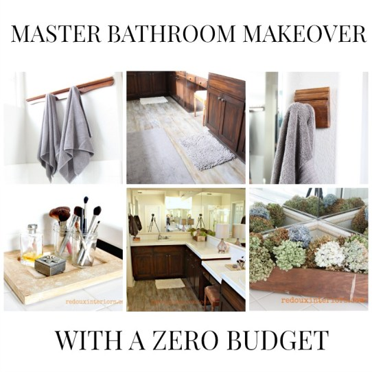 Master bathroom makeover low budget redouxinteriors