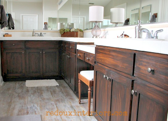 paint that looks like wood on cabinets redouxinteriors