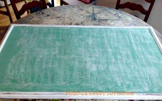 How to season a vintage green chalkboard redouxinteriors