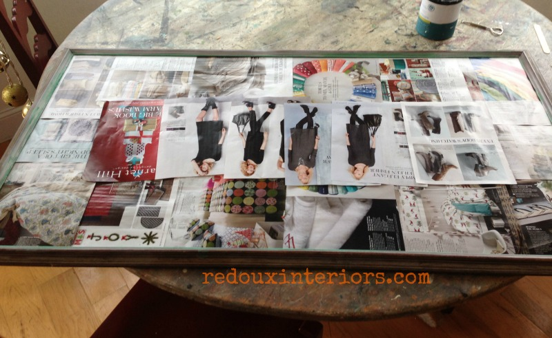 how to cover a print or chalkboard before to paint frame redouxinteriors