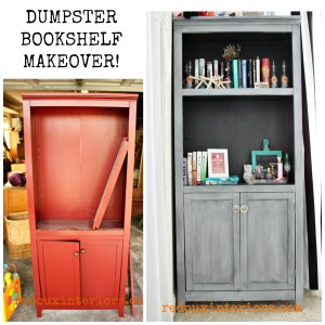 Trashy Tuesday Dumpster Bookshelf Makeover