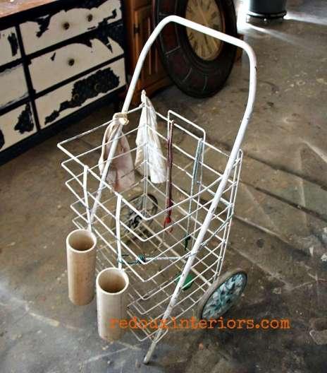 rolling market cart dumpster found redouxinteriors