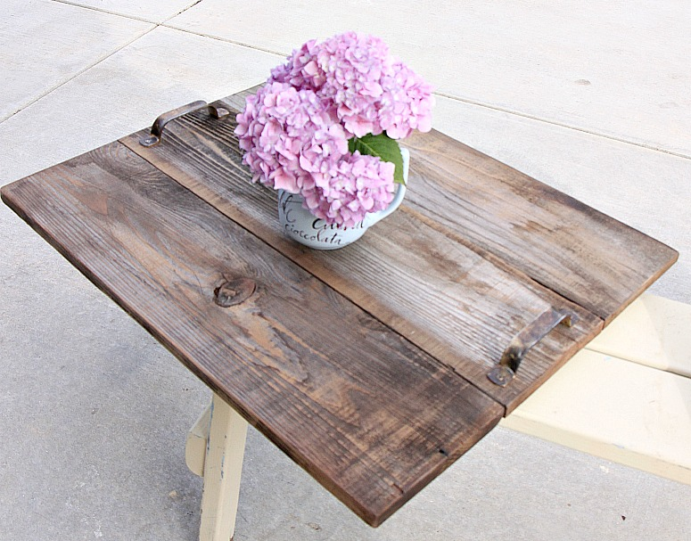 tray doubles as table top upcycled wood 2 redouxinteriors