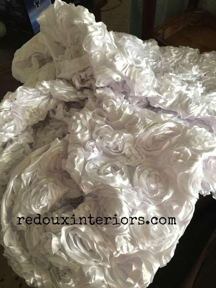 Dumpster Found Rose Blanket redouxinteriors