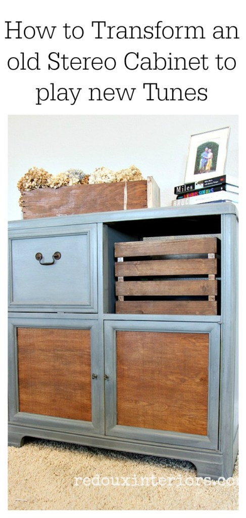 Refurbished Stereo Cabinet redouxinteriors diy paint