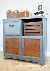 Trashy Tuesday – How To Makeover a Vintage Stereo Cabinet