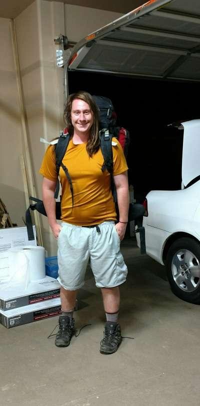 Ben before hike 2016