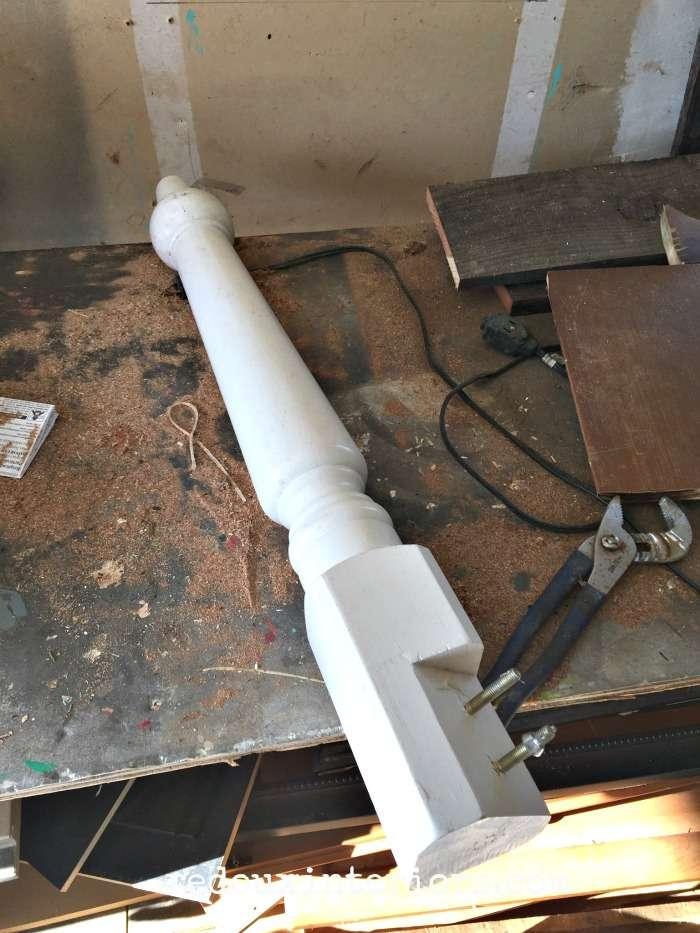 Furniture leg dumpster found redouxinteriors