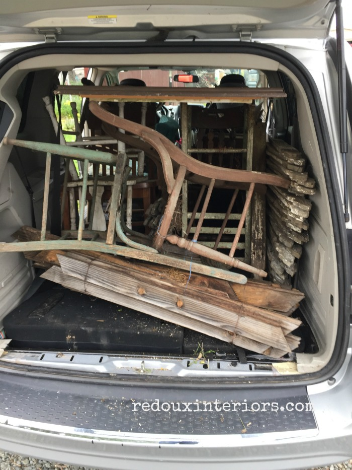 Van loaded with junk Harston Dig
