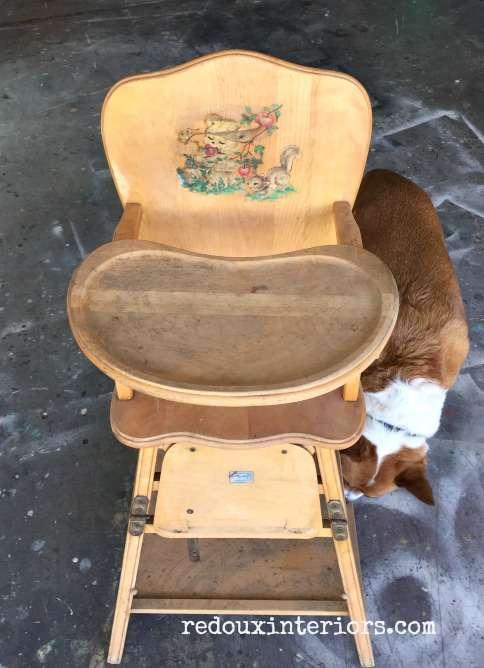 high chair found near dumpster redouxinteriors