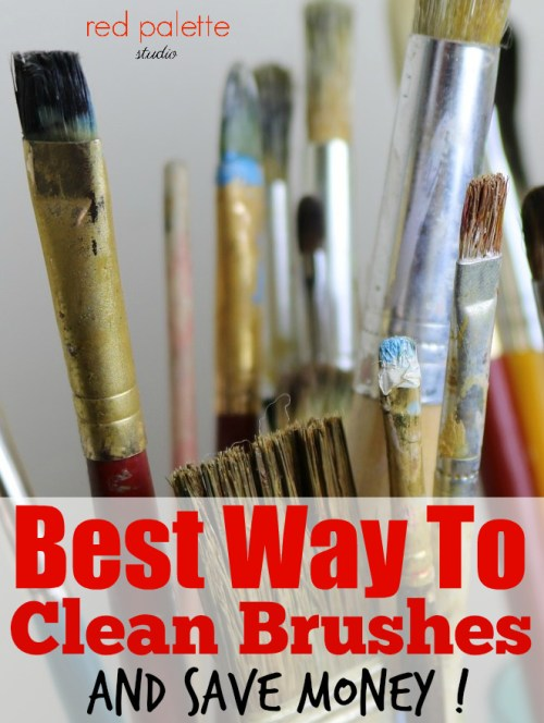 Best Way To Clean Brushes: And Save Money! There are a few ways that I prefer to clean my brushes but one way is best and the cheapest.