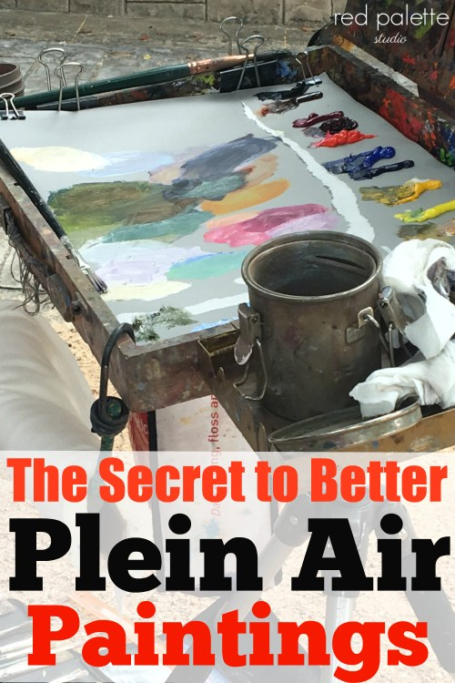 Secret to Plein Air Painting. Most artists fail to do this when painting. I tried it and really did help my paintings and made me a quicker plein air painter.