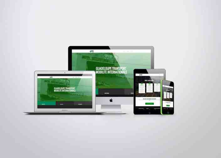 site web responsive transport