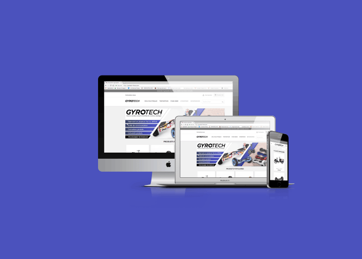 site e-commerce responsive gyrotech