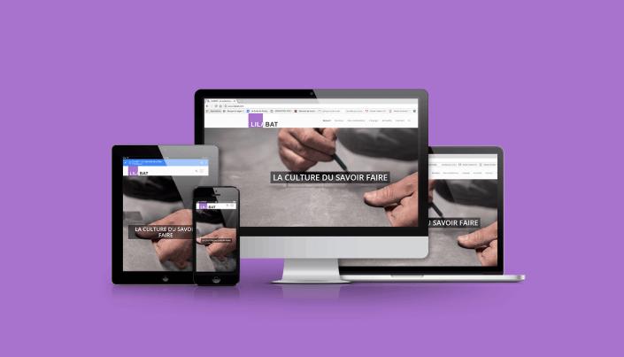 site web responsive btp