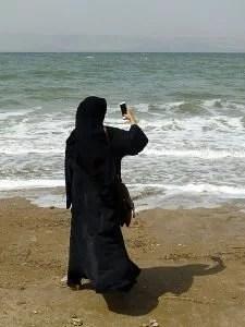 Niqab Mer Morte Jordanie (Ji-Elle, 2016). De licentie van dit bestand is verleend onder de Creative Commons Attribution-Share Alike 4.0 International licentie.