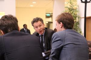 Jeroen Dijsselbloem, Igno Notermans en Elias Asselbergs. Foto: Room for Discussion