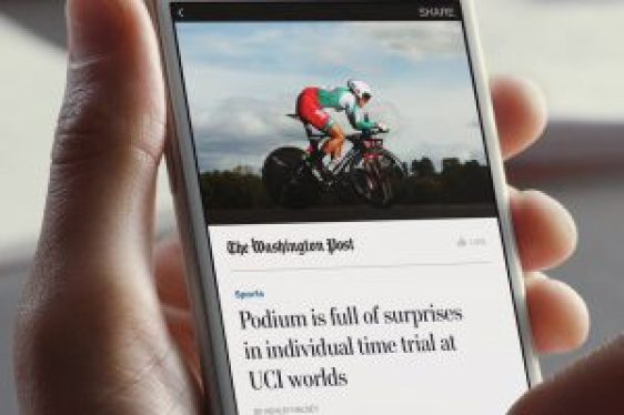Instant Articles, Washington Post artikel. Foto: Facebook