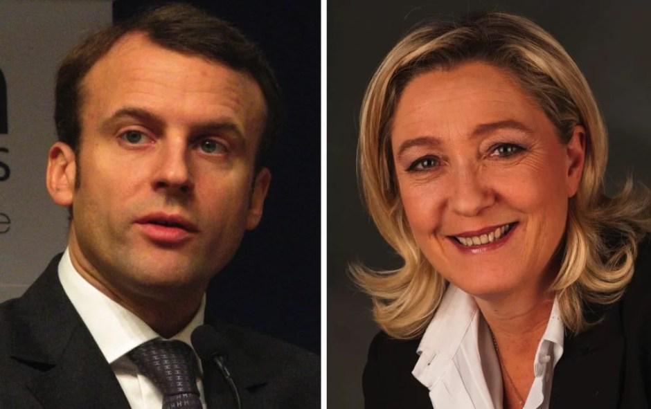 Emmanuel Macron and Marine Le Pen. Photos (left to right): Copyleft, Foto-AG Gymnasium Melle