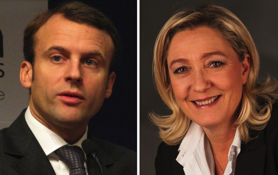 Emmanuel Macron and Marine Le Pen. Photos (left to right): Copyleft, Foto-AG Gymnasium Melle