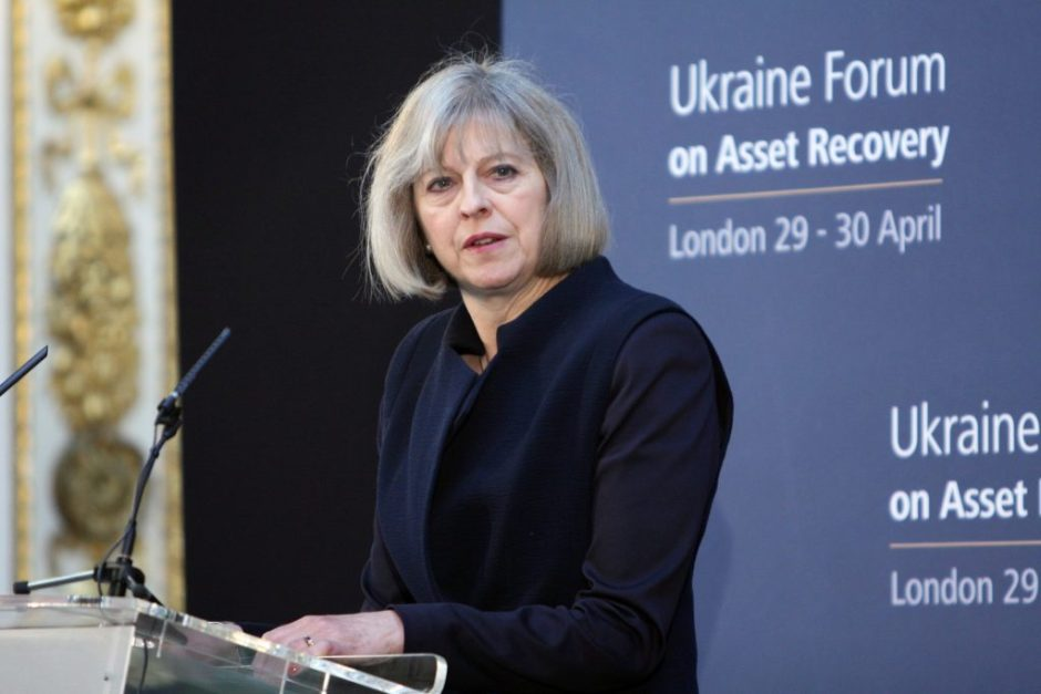 Home Secretary Theresa May at the Ukraine Forum on Asset Recovery in London, 29 April 2014. Photo: Foreign and Commonwealth Office