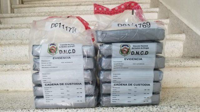 Droga incautada por la DNCD
