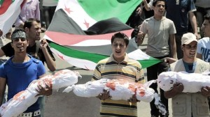 Funeral of Syrian children murdered by Bashar Assad's regime