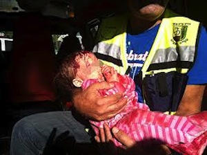 Photo of wounded Israeli baby used as propaganda on Premier Netanyahu's Twitter page