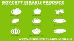 Boycott Israeli produce