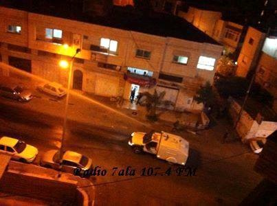 Israeli army vans spraying sewage in Abu Dis