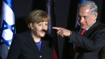 Angela Merkel and Binyamin Netanyahu