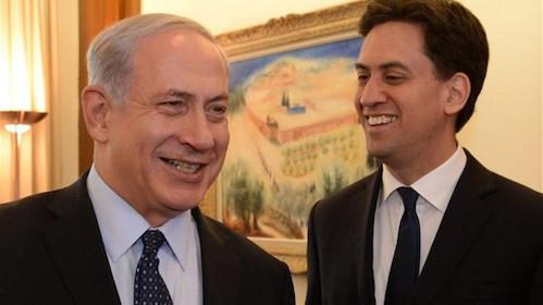 Binyamin Netanyahu and Ed Miliband