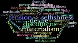 Materialism and misery