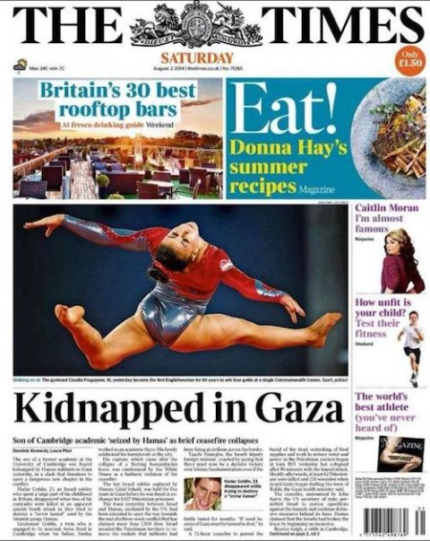 Times on captured Israeli soldier
