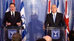 David Cameron and Binyamin Netanyahu