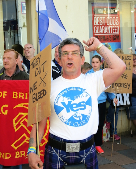 Councillor Pat Lee (South Lanarkshire) calling on David Mundell to come down and face the music