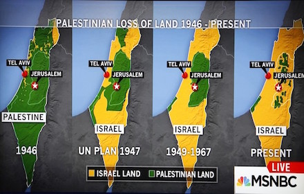 Palestinian land loss 1946 to present