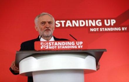 Jeremy Corbyn - standing up