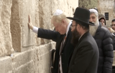 Boris Johnson at the Western Wall in Jerusalem, November 2015